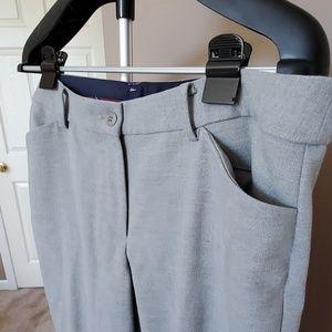 Talbots Pants - Talbots' Hampton Ankle Pants, Light Gray, Size 14